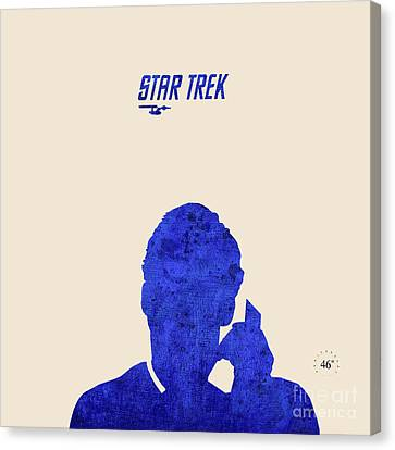 James At The Phone - Star Trek Canvas Print by Pablo Franchi