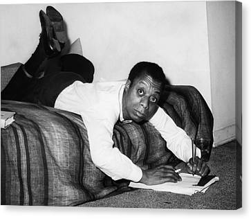 Writing Canvas Print - James Baldwin, 1963 by Everett