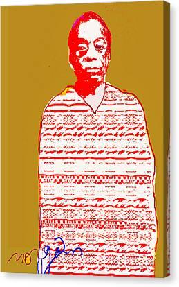 James Baldwin Canvas Print by Noredin Morgan
