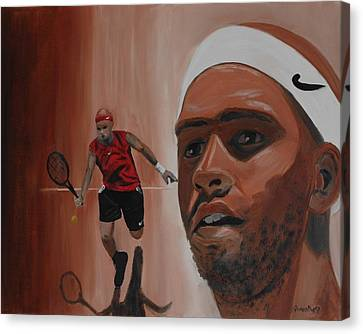 Canvas Print featuring the painting James Blake by Quwatha Valentine