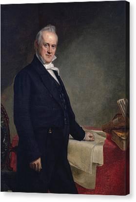James Buchanan Canvas Print by George Peter Alexander Healy