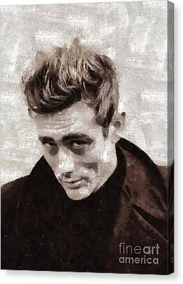 James Dean By Mary Bassett Canvas Print