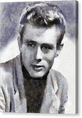 James Dean By Sarah Kirk Canvas Print