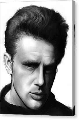 Icon Canvas Print - James Dean by Greg Joens