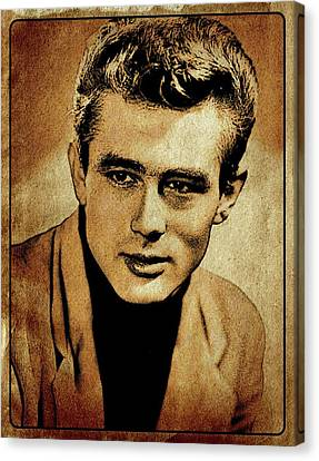 James Dean Hollywood Legend Canvas Print by Esoterica Art Agency