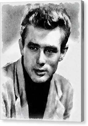 James Dean Hollywood Legend Canvas Print by Frank Falcon