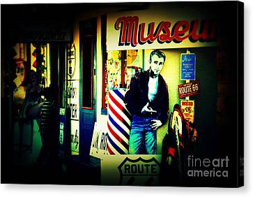 James Dean On Route 66 Canvas Print by Susanne Van Hulst