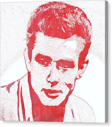 James Dean Pop Art Canvas Print