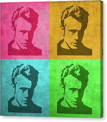 James Dean Vintage Pop Art Canvas Print by Design Turnpike