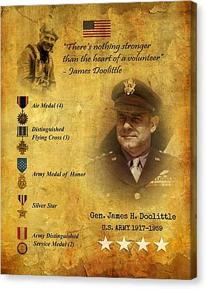 Canvas Print featuring the digital art James Doolittle Tribute  by John Wills
