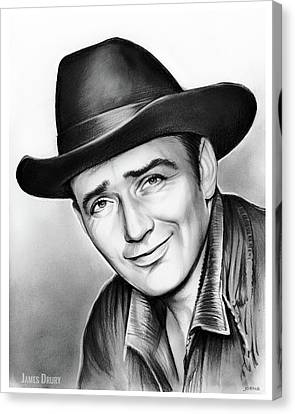 Western Canvas Print - James Drury by Greg Joens