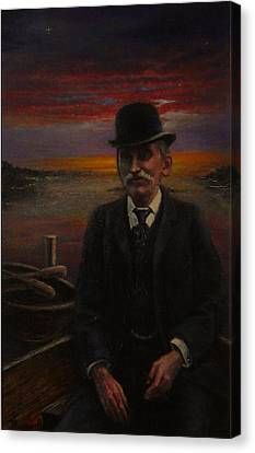 James E. Bayles Sunset Years Canvas Print