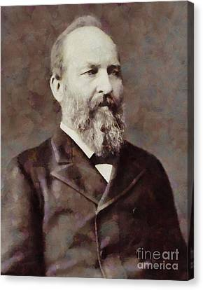 James Garfield, President Of The United States By Sarah Kirk Canvas Print by Sarah Kirk