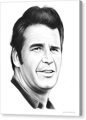 Western Canvas Print - James Garner by Greg Joens