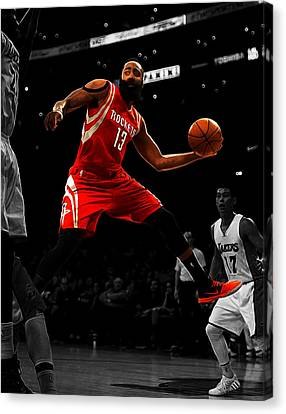 James Harden Canvas Print by Brian Reaves