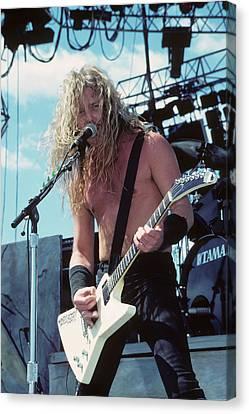 James Hetfield Of Metallica Canvas Print by Rich Fuscia