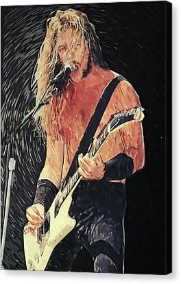 James Hetfield Canvas Print by Taylan Apukovska