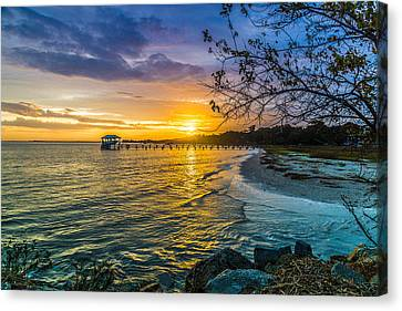 James Island Sunrise - Melton Peter Demetre Park Canvas Print