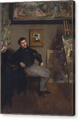 James Jacques Joseph Tissot Canvas Print by MotionAge Designs