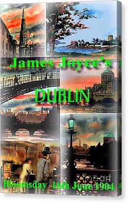 James Joyce's Dublin Canvas Print