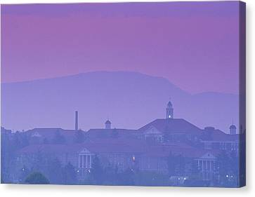 James Madison University At Dusk Canvas Print by Kenneth Garrett