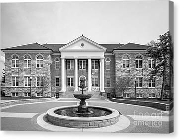 James Madison Canvas Print - James Madison University Carrier Library by University Icons