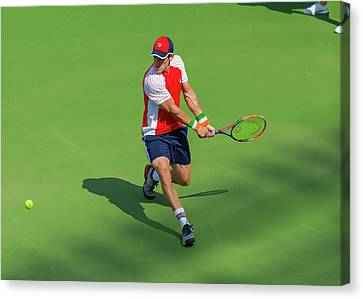 Atp World Tour Canvas Print - James Mcgee Plays Center Court At The Winston-salem Open by Bryan Pollard
