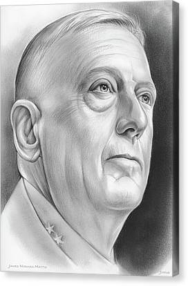 James Norman Mattis Canvas Print by Greg Joens
