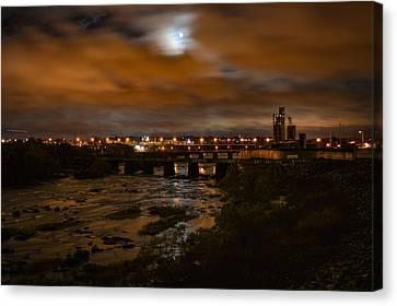 James River At Night Canvas Print