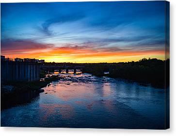 James River Sunset Canvas Print