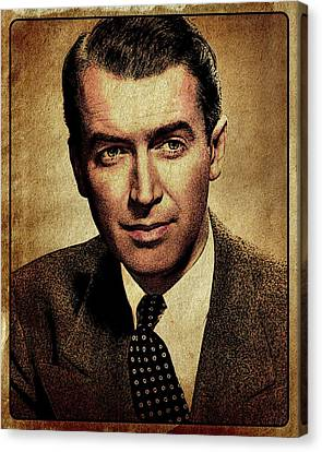 James Stewart Hollywood Actor Canvas Print by Esoterica Art Agency