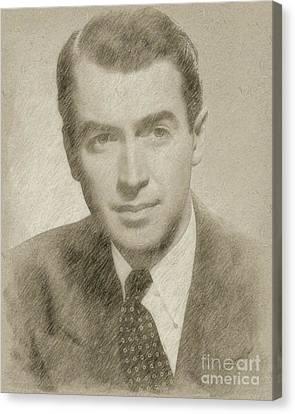 Hepburn Canvas Print - James Stewart Hollywood Actor by Frank Falcon