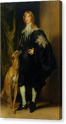 Canvas Print featuring the painting James Stuart - Duke Of Richmond And Lennox                       by Anthony Van Dyck
