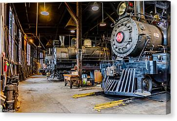 Jamestown Roundhouse Canvas Print
