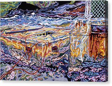 Jamestown Sea Construction Site Canvas Print by Robert SORENSEN