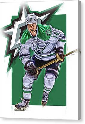 Jamie Benn Dallas Stars Oil Art Series 2 Canvas Print