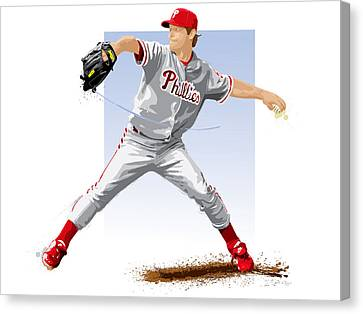 Citizens Bank Park Canvas Print - Jamie Moyer by Scott Weigner