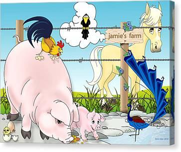 Jamie's Farm Canvas Print by Lynn Rider
