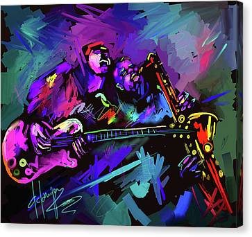 Jammin' The Funk Canvas Print by DC Langer