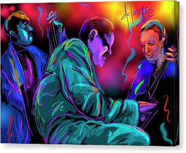 Jamming With Oscar Canvas Print by DC Langer