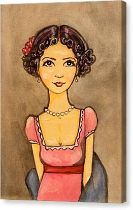 Jane Austen Canvas Print by Ramey Guerra