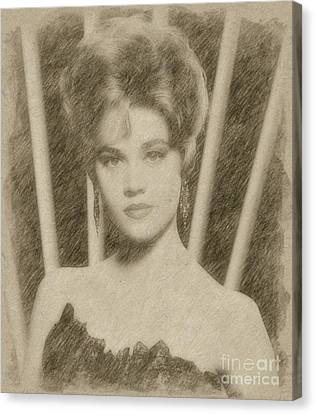 Jane Fonda, Actress Canvas Print by Frank Falcon