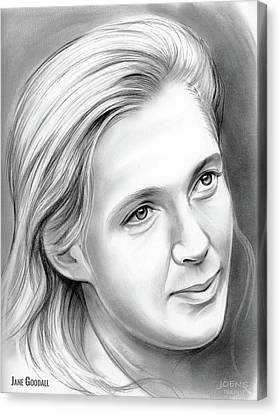 Messenger Canvas Print - Jane Goodall by Greg Joens
