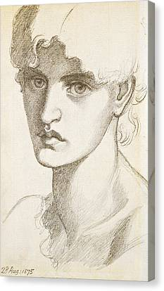 Jane Morris Canvas Print by Dante Gabriel Rossetti