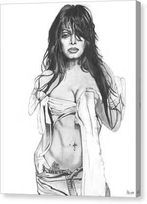 Janet Jackson Canvas Print by Russell Griffenberg