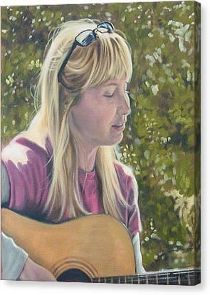 Janine Singing Canvas Print