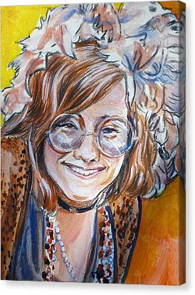 Janis Joplin Canvas Print by Bryan Bustard