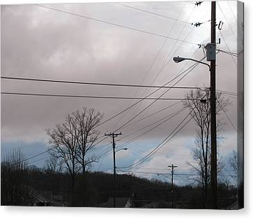 Canvas Print featuring the photograph January Blue Sky by Lindie Racz