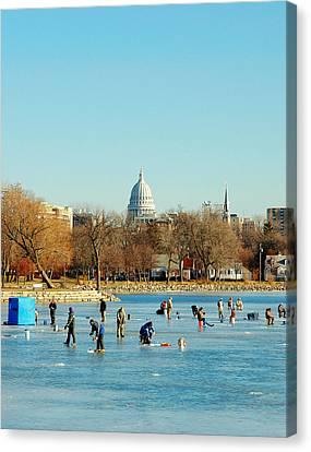January Ice Canvas Print by Todd Klassy