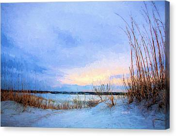 January In Panama City Beach Canvas Print by JC Findley